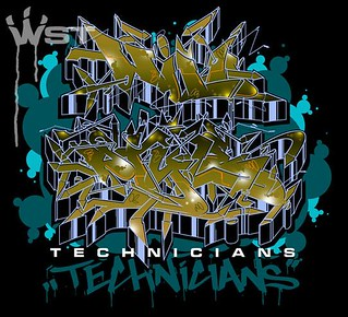 *NEW* WILD STYLE TECHNICIANS T-SHIRT DESIGN.