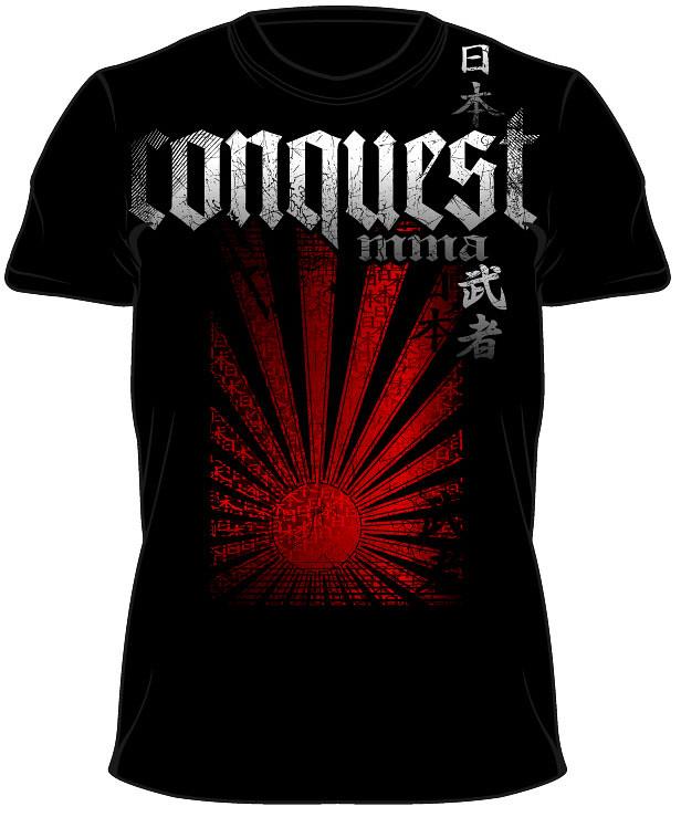 rising sun mma t-shirt