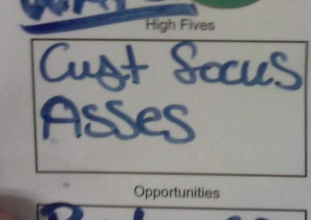 cust focus: asses
