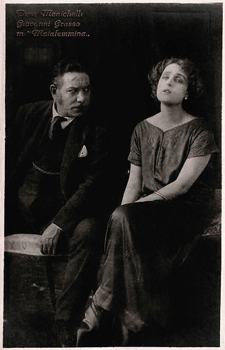 Pina Menichelli and Giovanni Grasso in Malafemmina.
