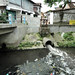 Polusi air. : The river water is polluted. Photo by Ardian