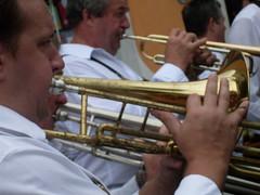 string instrument(0.0), orchestra(0.0), musician(1.0), tuba(1.0), trumpet(1.0), trombone(1.0), music(1.0), horn(1.0), brass instrument(1.0), wind instrument(1.0),