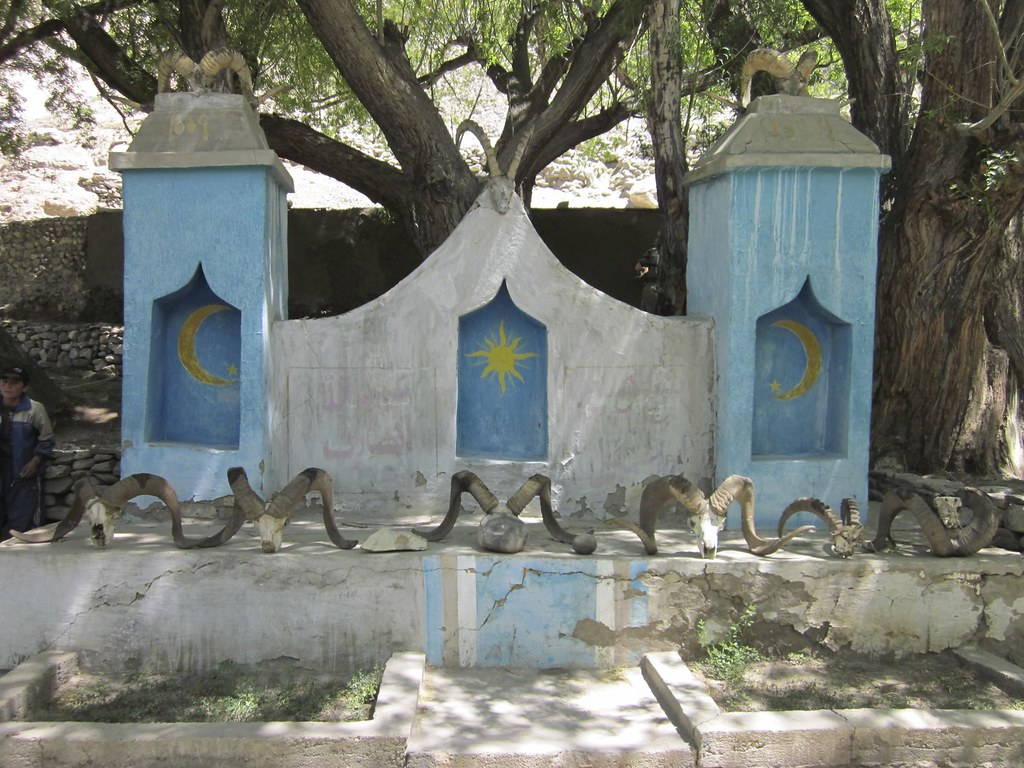 Village shrine in the Pamir Mountains, Tajikistan