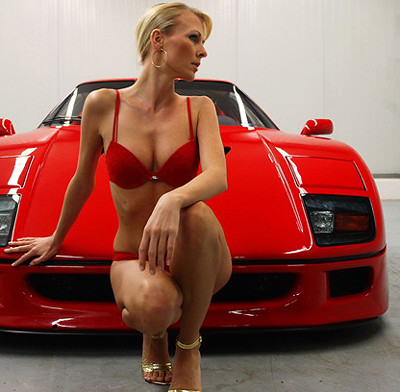 Ferrari F40 And Hot Girl In Bikini A Photo On Flickriver