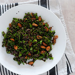 w2 black quinoa & broccolini salad