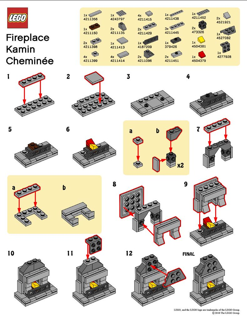 LEGO MMMB - November '10 (Fireplace) Instructions