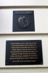 Photo of Jean Monnet black plaque