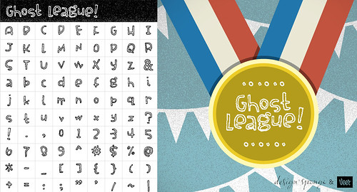 Ghost League Font for Design*Sponge Create Your Own Alphabet Contest