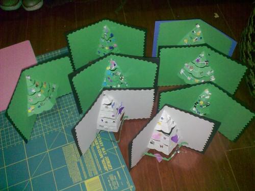 Centro de desarrollo la milpa navidades hechas a mano 1 - Postales de navidad hechas por ninos ...