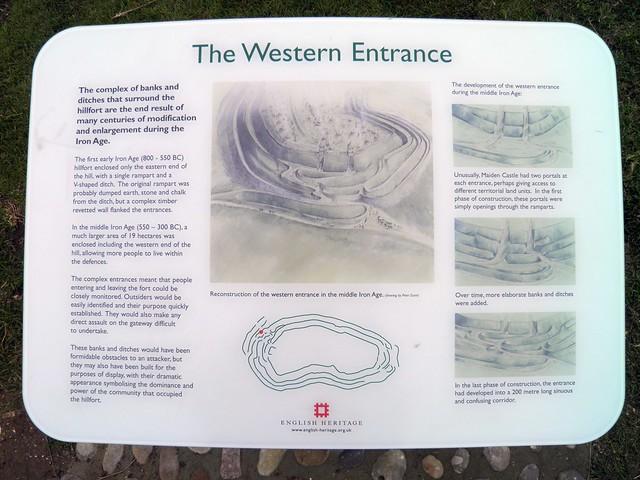 The Western Entrance, Maiden Castle, Dorset