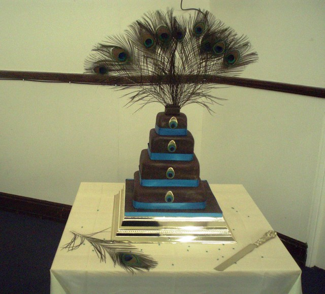 Peacock Wedding Cake delightsbycynthiawordpresscom