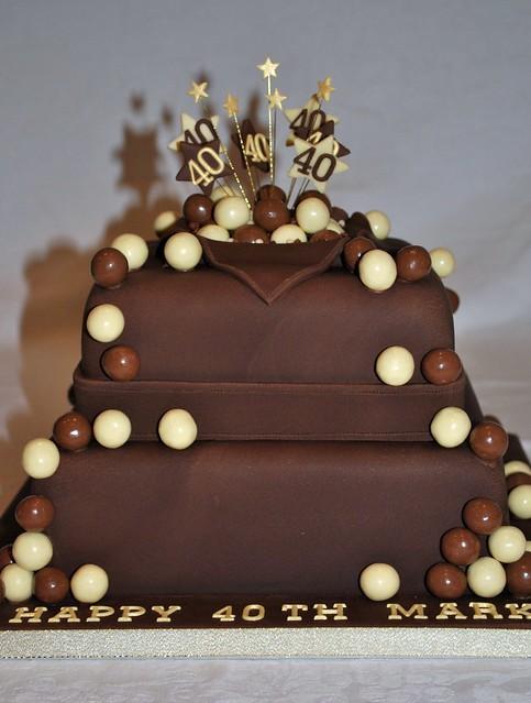 2 Tier Malteser Chocolate Birthday Cake Flickr Photo