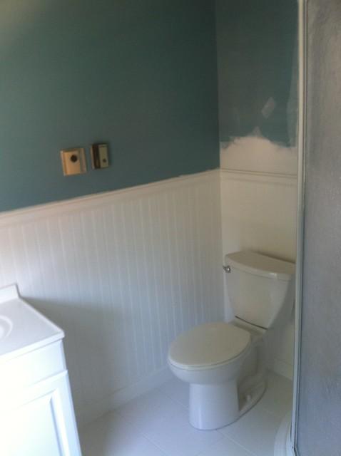 Finished Bathroom With Pvc Waynes Coating Flickr Photo