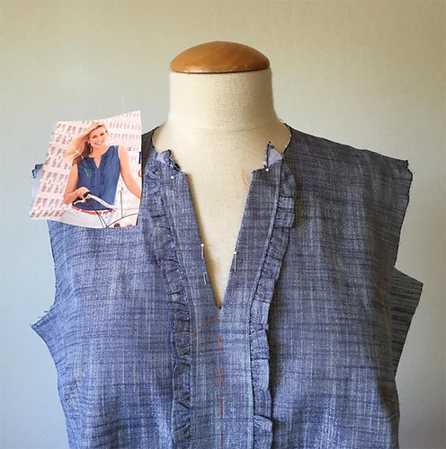 chambray top inspo