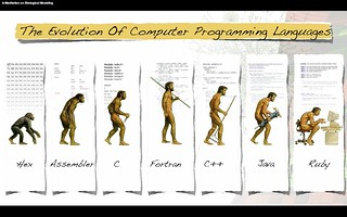 The Evolution of Computer Programming Languages #C #Fortran #Java #Ruby from Flick by dullhunk under CC