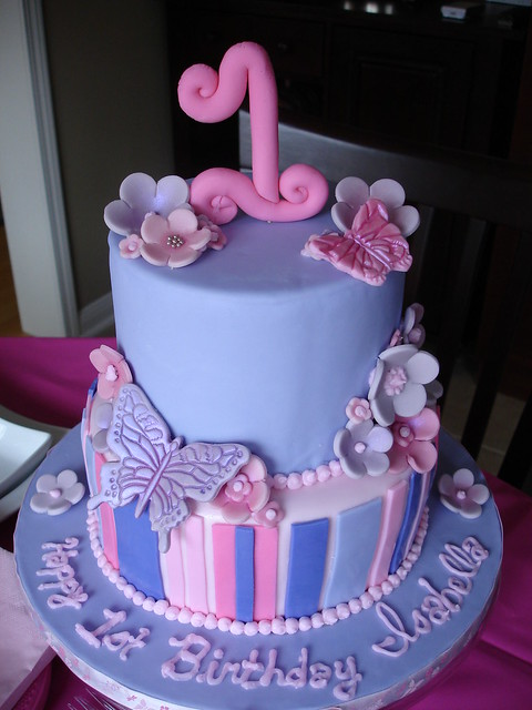Butterfly 1st Birthday Cake White Chocolate Cake With Rasp