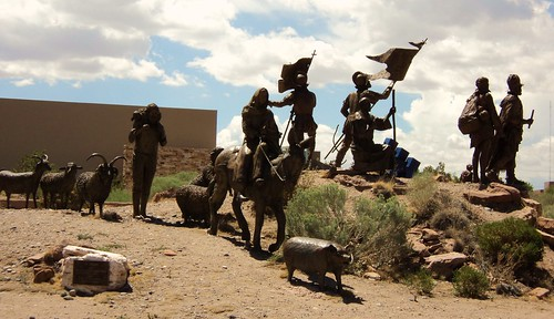 conquistadores in front of abq museum