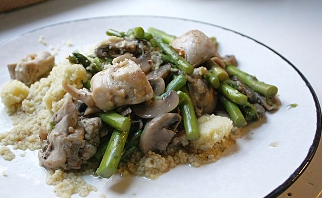 Sauteed Chicken with Mushrooms and Asparagus | Flickr - Photo Sharing!