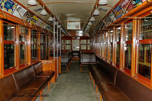Inside an Old Trolley Car