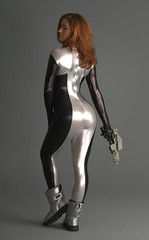 latex clothing, clothing, sleeve, limb, leg, photo shoot, lady, tights, spandex,