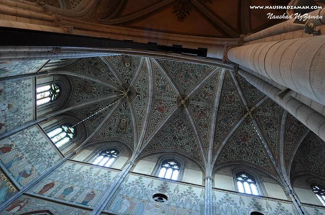 Inside Uppsala cathedral