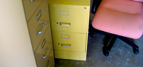 UF Norman Filing Cabinets Pink Chair Floor