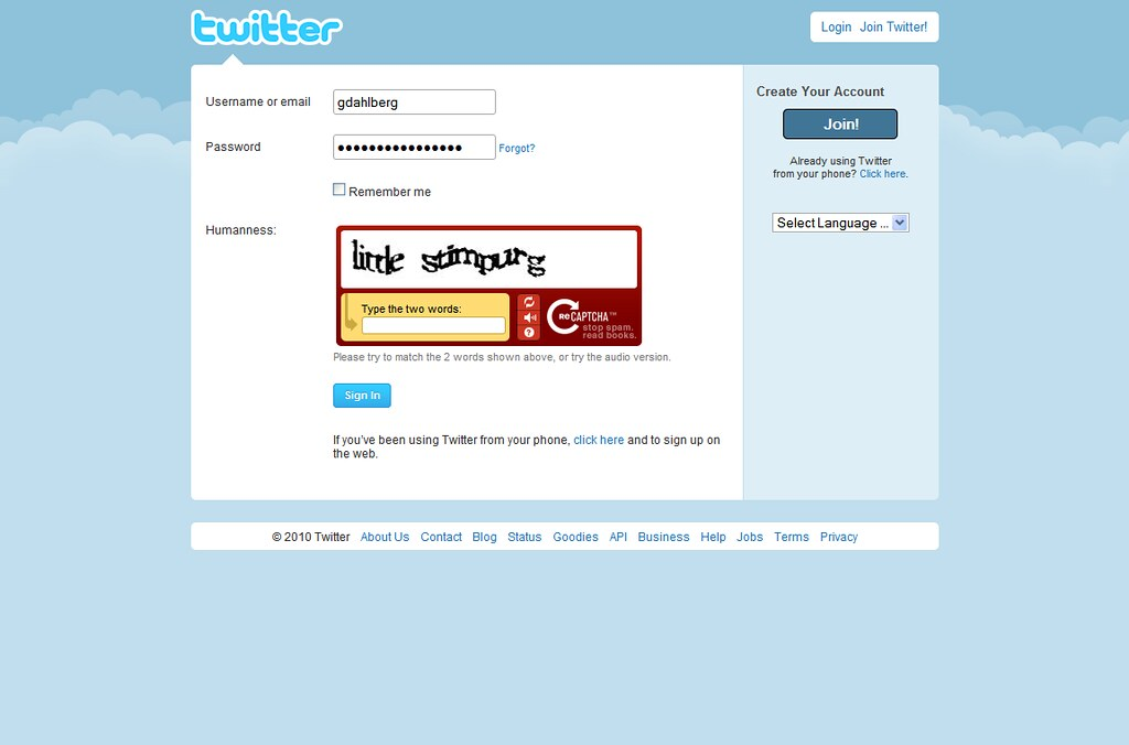 Humanness? | Hey, Twitter: my username and password haven't