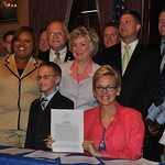 Complete Streets Bill Signing with Michigan Governor Jennifer Granholm Photo by Michigan Municipal League