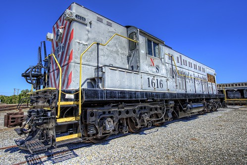 railroad train nc nikon northcarolina rail locomotive baldwin hdr highdynamicrange topaz photomatix d700 northcarolinatransportationmuseum topazadjust as416 norfolksouthernnctransportationmuseum