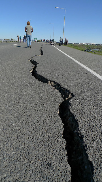 Earthquake damage - Bridge Street.