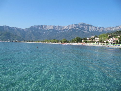 sea mountains beach greece goldenbeach thassos thasos ypsarion ipsarion chrisiammoudia mtipsarion