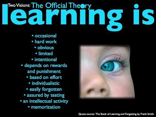 Learning is (the official view)