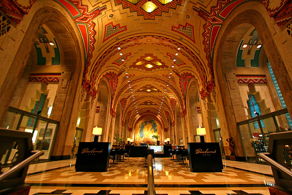 Detroit 39 s historical gems skyscrapercity for Bank ballroom with beautiful mural nyc