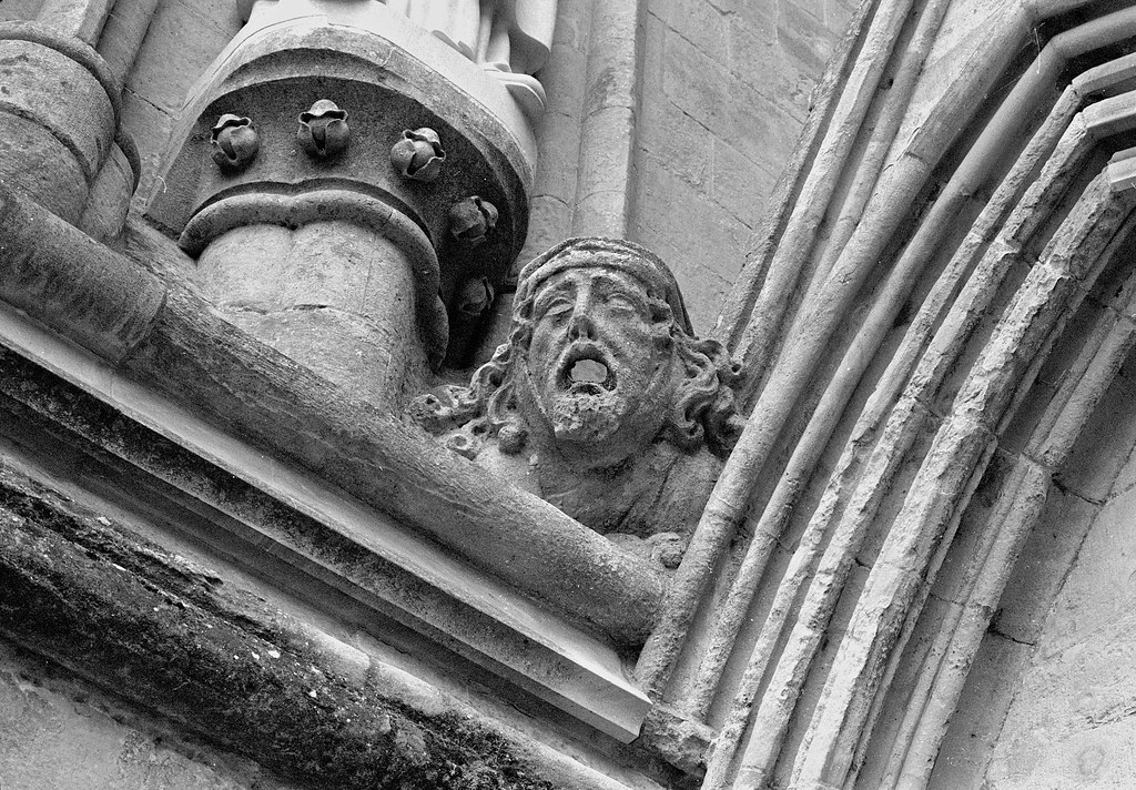 Stonework at Salisbury Cathedral