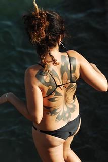 Imagen de Piscina Oceânica Alberto Romano Playa con una longitud de 105 metros. sea ass beach portugal tattoo women bikini cascais