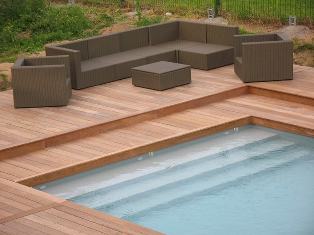 Parquet bois terrasse et plage piscine  Flickr  Photo Sharing!