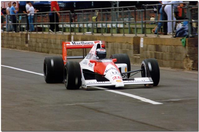 Gerhard Berger Mclaren Honda MP4/5 F1. 1990 British GP Test Silverstone