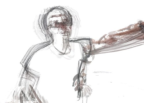 gestural self portrait (in Processing)