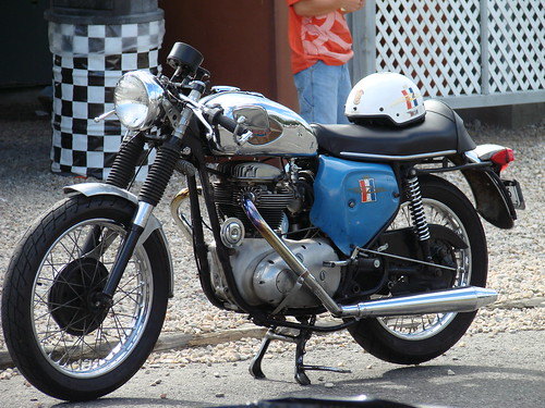 BSA A50, old school Cafe Racer by cafe426