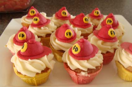 mini fireman cupcakes flickr photo sharing. Black Bedroom Furniture Sets. Home Design Ideas