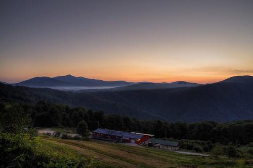 sky mountains fog sunrise nc northcarolina orchard hdr blueridgeparkway brp orchardataltapass davidhopkinsphotography