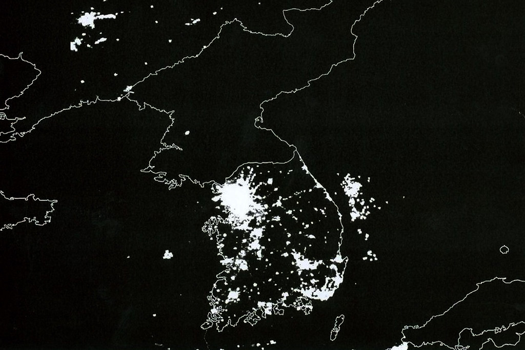 North Korea - Satellite view
