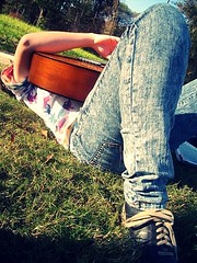 Guitar and Faded Jeans