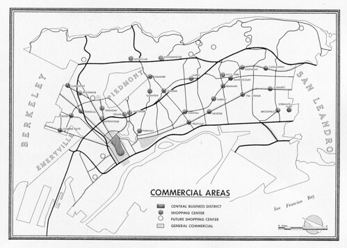Oakland General Plan: Commercial Areas, 1958