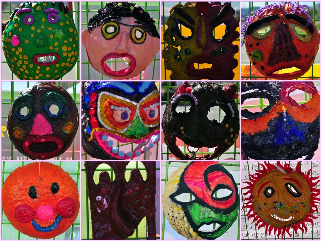Mask Collage -- Andong Mask Festival