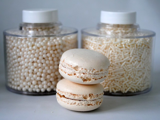 Winter white macarons & sprinkles | Flickr - Photo Sharing!