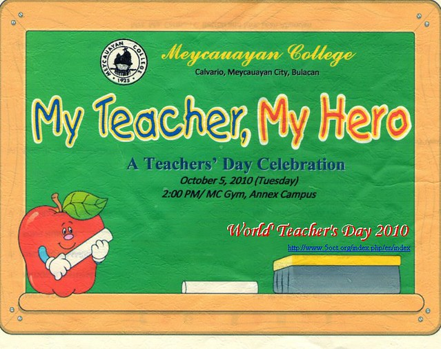 philippines teacher day The celebration of the national teachers' day this october, which will be  attended by thousands of teachers from all over the country, will be.