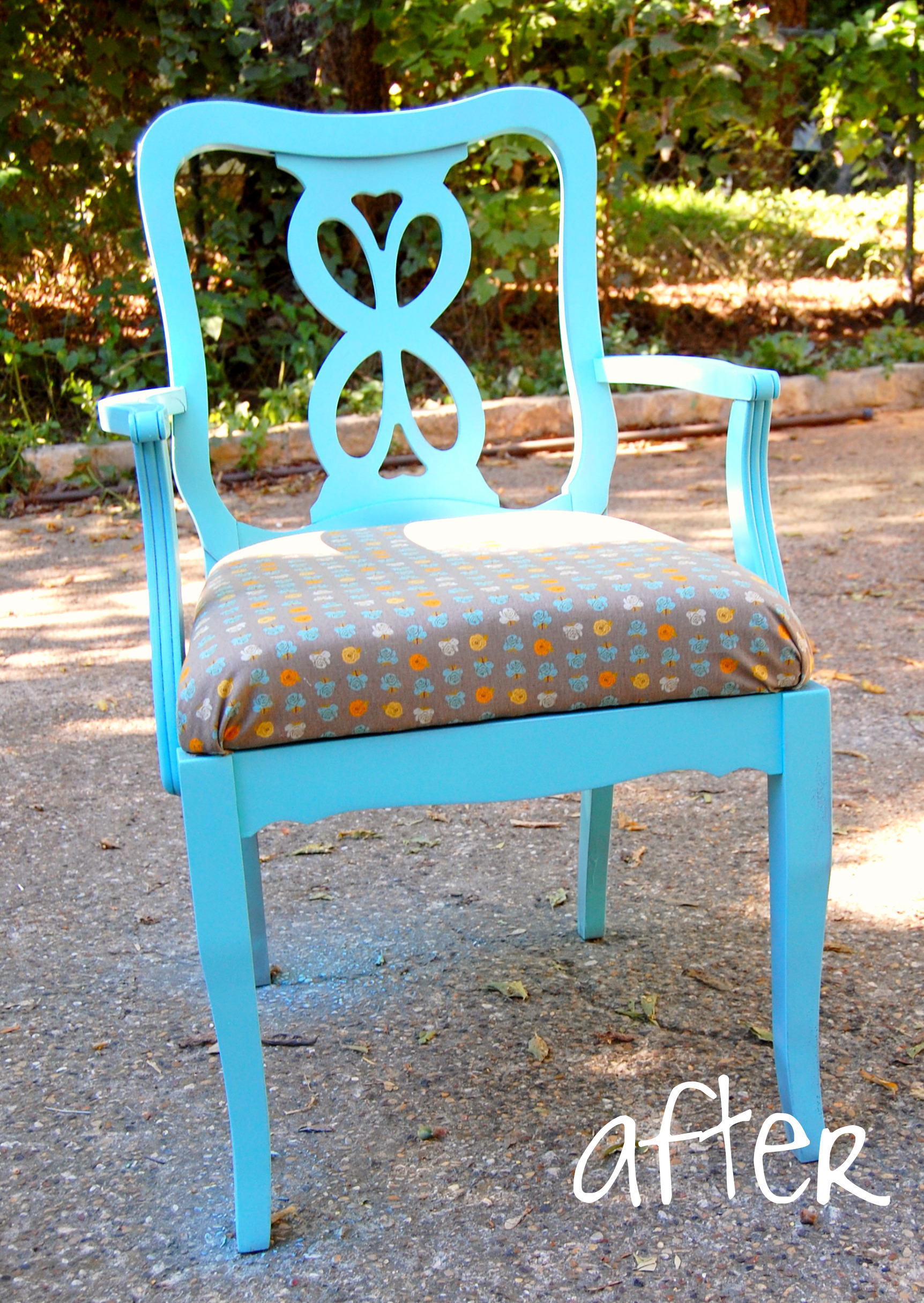 vintage chair - after