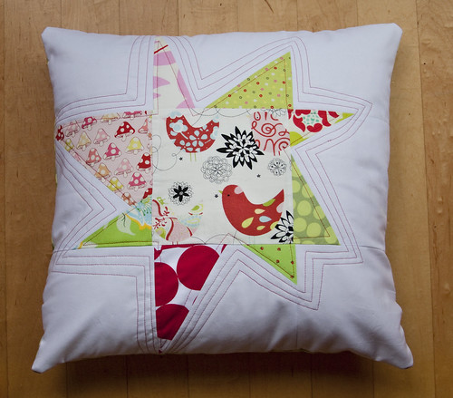 Wonky Christmas Star Pillow