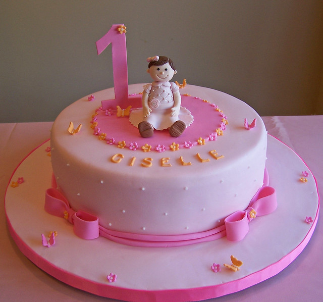 Birthday Cake Ideas For Little Girl : First birthday cake - little girl Flickr - Photo Sharing!
